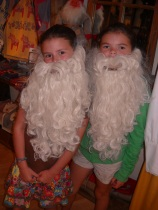 girls in santa beards